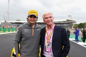 Carlos Sainz Jr., McLaren, with Presenter Phillip Schofield
