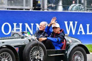 Pierre Gasly, Toro Rosso, en el desfile de pilotos