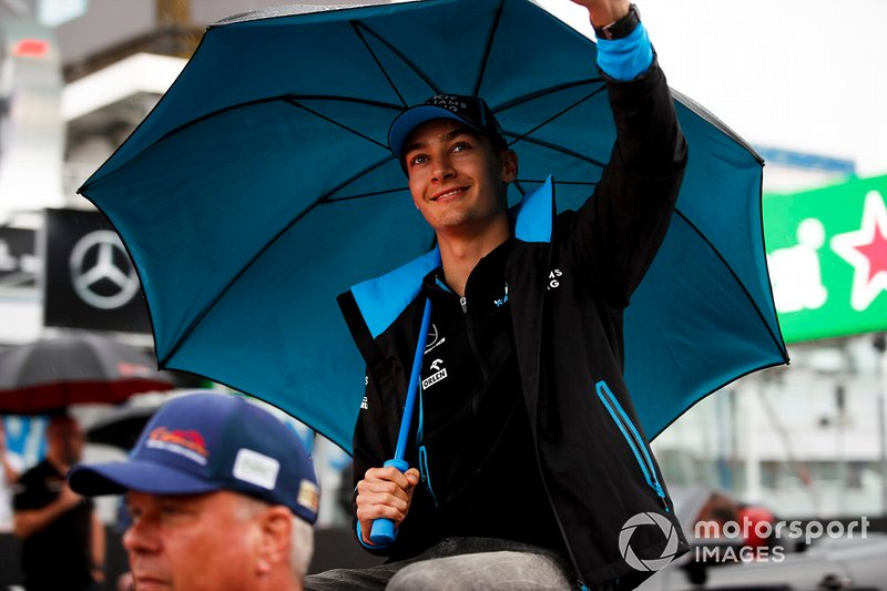 George Russell, Williams Racing n the drivers parade
