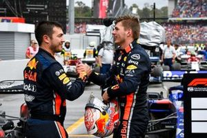 Race winner Max Verstappen, Red Bull Racing celebrates in Parc Ferme with his team