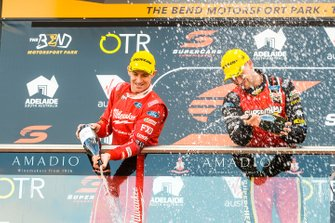 Second place Will Davison, 23Red Racing Ford, third place Chaz Mostert, Tickford Racing Ford