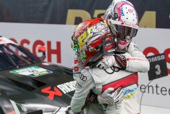 Race winner Nico Müller, Audi Sport Team Abt Sportsline with Robin Frijns, Audi Sport Team Abt Sportsline