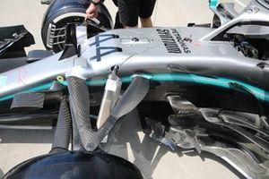 Mercedes AMG F1 W10, barge board