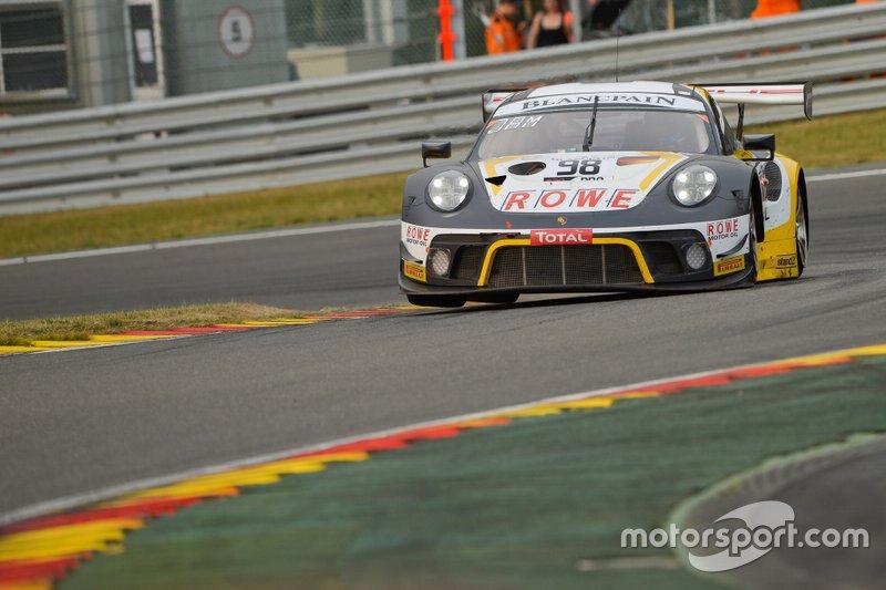 #98 ROWE Racing Porsche 911 GT3 R: Sven Müller, Romain Dumas, Mathieu Jaminet