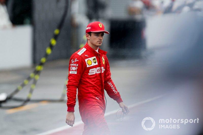 Charles Leclerc, Ferrari retirado de la carrera