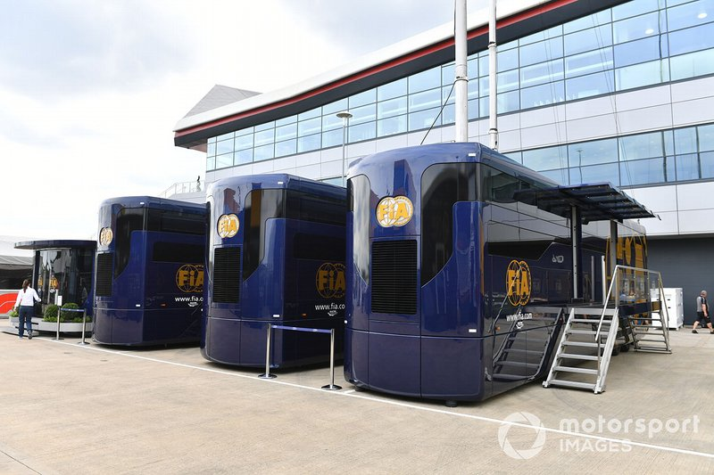 Fia building in the paddock
