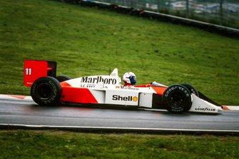 Alain Prost, McLaren MP4-4 Honda al GP di San Marino del 1988