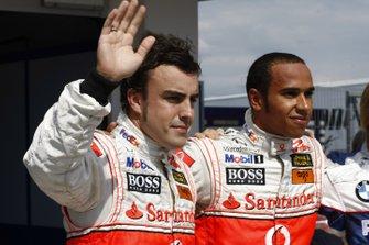 Lewis Hamilton, McLaren e Fernando Alonso, McLaren, al GP di Ungheria del 2007