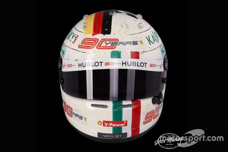 Helm van Sebastian Vettel, Ferrari, Italië