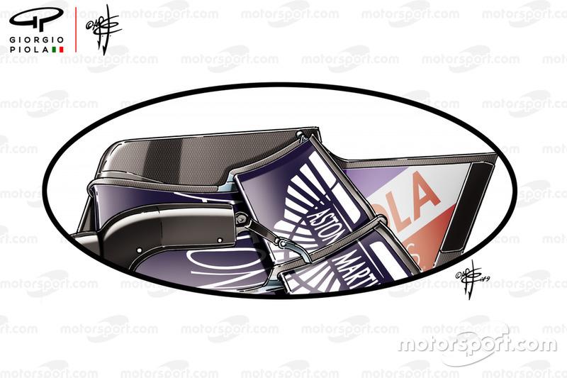 Red Bull Racing RB15, dettaglio dell'ala posteriore