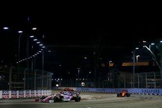 Lance Stroll, Racing Point RP19, Sebastian Vettel, Ferrari SF90