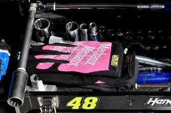 Jimmie Johnson, Hendrick Motorsports, Chevrolet Camaro Ally crew gloves