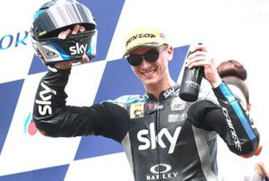 Podium: race winner Luca Marini, Sky Racing Team VR46