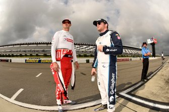 Graham Rahal, Rahal Letterman Lanigan Racing Honda and Conor Daly, Carlin Chevrolet