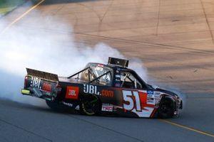 Chandler Smith, Kyle Busch Motorsports, Toyota Tundra JBL crashes
