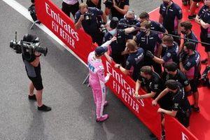 Нико Хюлькенберг, Racing Point, празднует третье место в квалификации