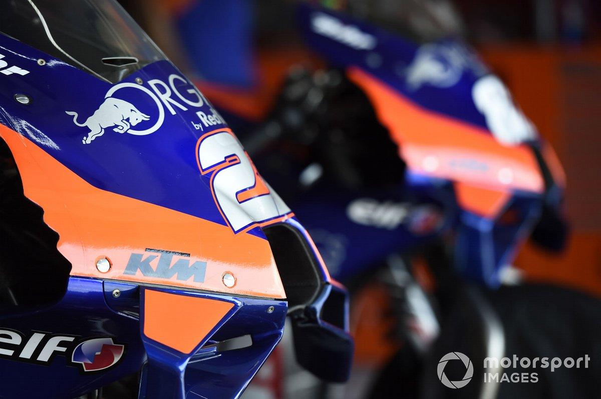 Detalle de la moto de Red Bull KTM Tech 3