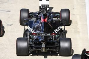 The car of Lewis Hamilton, Mercedes F1 W11, in Parc Ferme after Qualifying