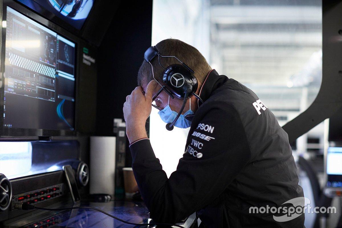 Mercedes F1 AMG team member