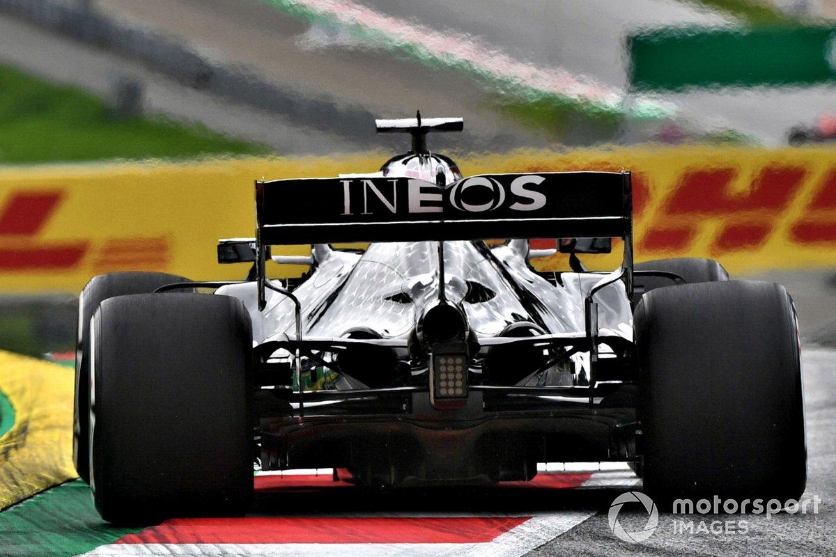 Detalle del difusor del Mercedes F1 W11