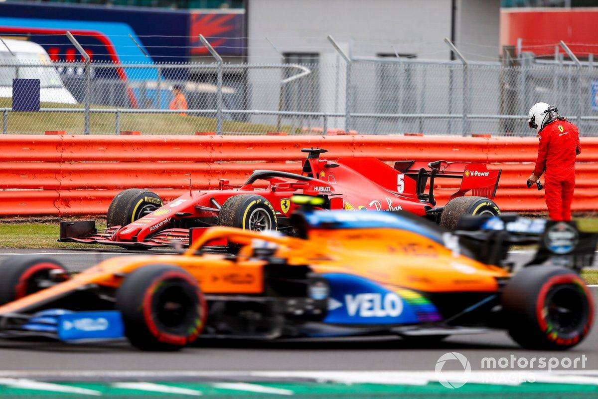 Sebastian Vettel, Ferrari SF1000 si ritira dalla sessione