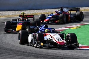 Louis Deletraz, CHAROUZ RACING SYSTEM, leads Jehan Daruvala, Carlin, and Roy Nissany, Trident