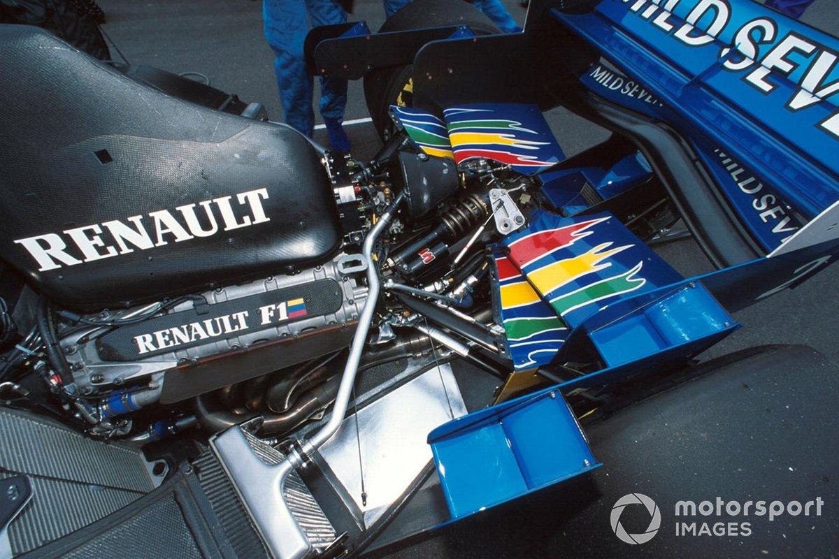 El motor Renault V10 en el Benetton