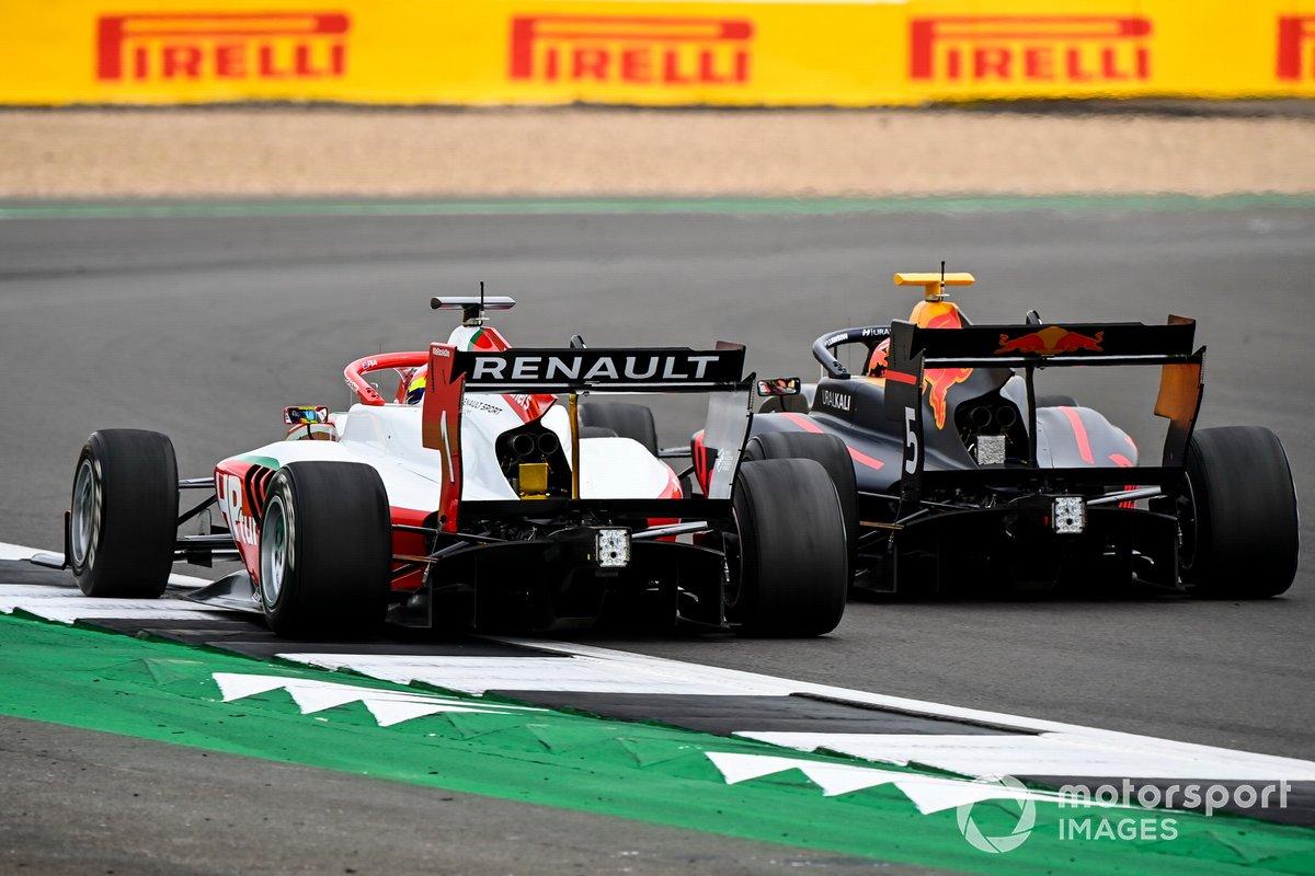 Oscar Piastri, Prema Racing and Liam Lawson, Hitech Grand Prix
