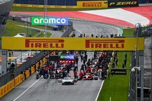 De grid voor de Formule 3-race