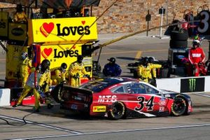 Michael McDowell, Front Row Motorsports, Ford Mustang Martin Transportation Systems pit stop