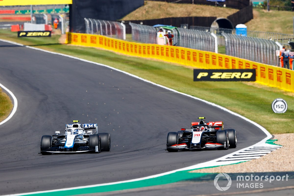 Nicholas Latifi, Williams FW43, Kevin Magnussen, Haas VF-20