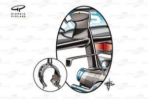 Детали заднего крыла Mercedes AMG F1 W11