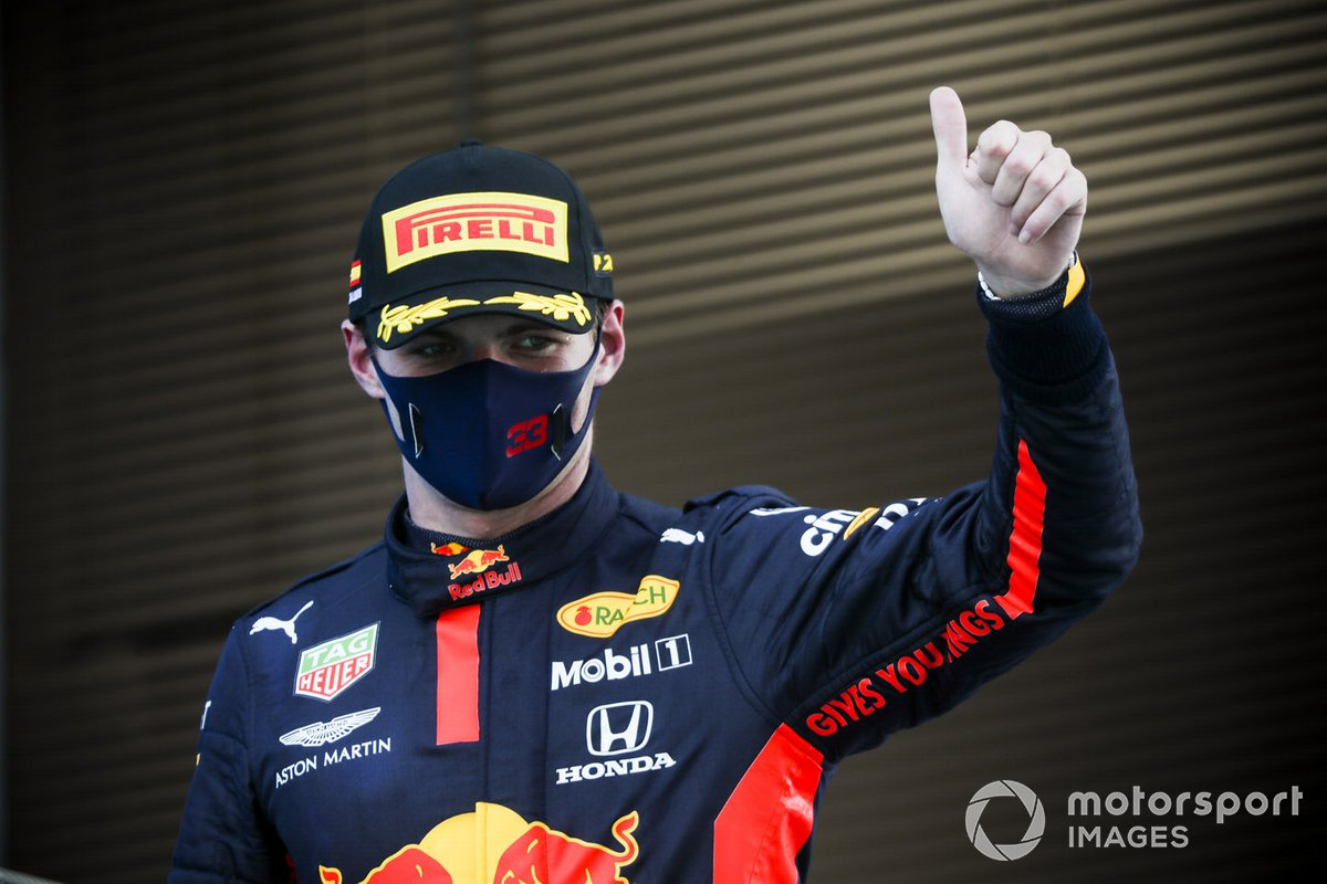 Max Verstappen, Red Bull Racing festeggia sul podio