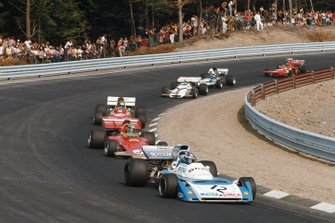 Jean-Pierre Beltoise, Matra MS120B, Reine Wisell, Lotus 72D Ford, Henri Pescarolo, March 711 Ford, Howden Ganley, BRM P160, Mike Hailwood, Surtees TS9A Ford, y Ronnie Peterson, March 711 Ford