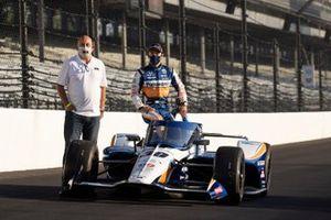 Takuma Sato, Rahal Letterman Lanigan Racing Honda, Bobby Rahal