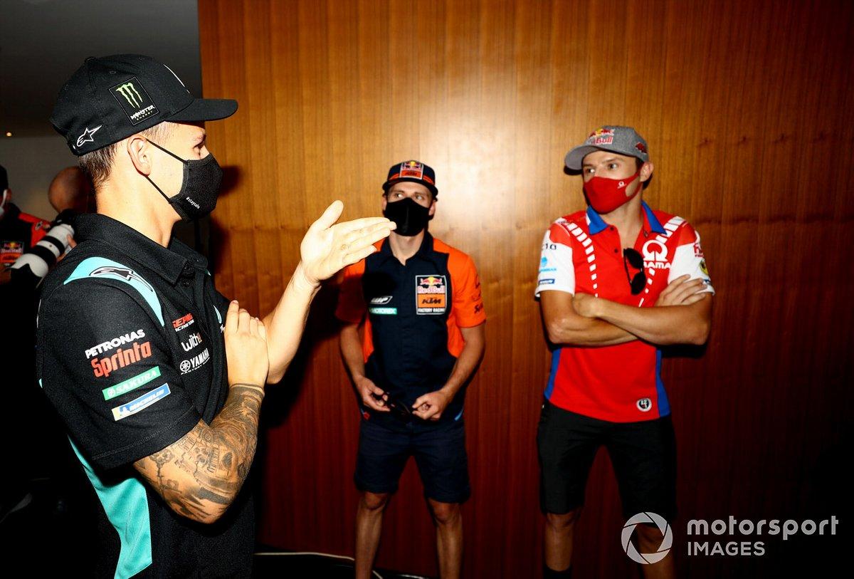 Fabio Quartararo, Petronas Yamaha SRT Brad Binder, Red Bull KTM Factory Racing, Jack Miller, Pramac Racing