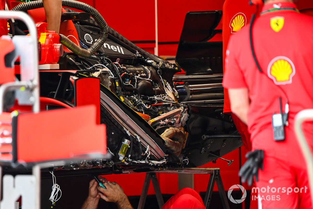 Ferrari SF1000 engine detail