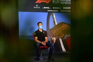 Romain Grosjean, Haas F1 durante la conferenza stampa