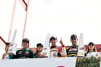 Podio: ganador de la carrera Juan Cruz Benvenuti, Laboritto Jrs., segundo lugar Juan Bautista, Benedictis y tercer lugar Facundo Ardusso, Torino Team