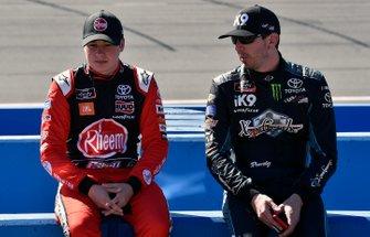 Christopher Bell, Joe Gibbs Racing, Toyota Supra Rheem and Kyle Busch, Joe Gibbs Racing, Toyota Supra iK9