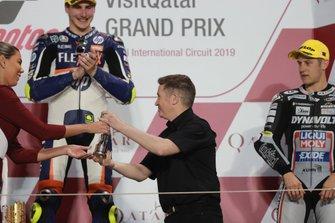 Podium: winnaar Lorenzo Baldassarri, Pons HP40