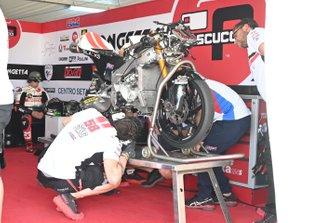Niccolo Antonelli, SIC58 Squadra Corse's crashed bike