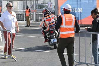 Jorge Lorenzo, Repsol Honda Team, after crash