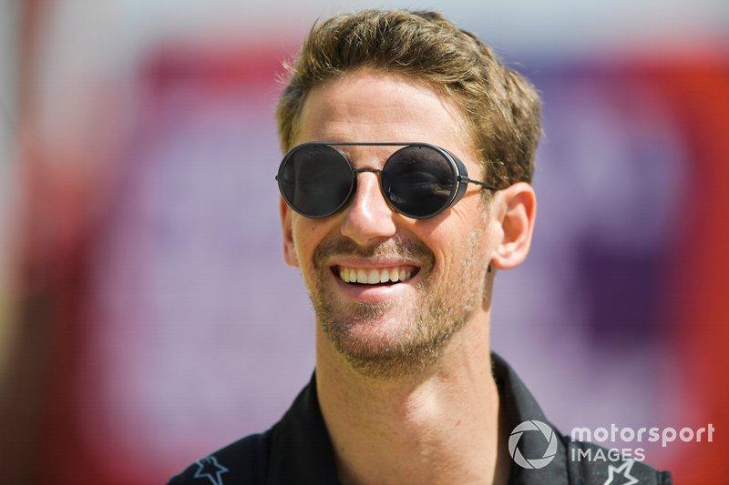 Romain Grosjean, Haas F1, arriva nel paddock