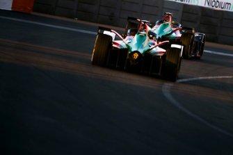 Lucas Di Grassi, Audi Sport ABT Schaeffler, Audi e-tron FE05 leads Daniel Abt, Audi Sport ABT Schaeffler, Audi e-tron FE05