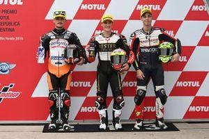 Polesitter Jaume Masia, Bester Capital Dubai, second place Aron Canet, Max Racing Team, third place Tony Arbolino, Team O