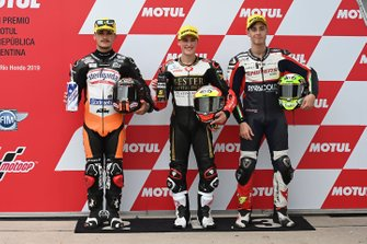 Polesitter Jaume Masia, Bester Capital Dubai, second place Aron Canet, Max Racing Team, third place Tony Arbolino, Team O