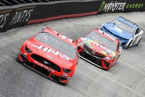 Daniel Suarez, Stewart-Haas Racing, Ford Mustang Haas Automation, Kyle Busch, Joe Gibbs Racing, Toyota Camry Skittles, Alex Bowman, Hendrick Motorsports, Chevrolet Camaro Nationwide