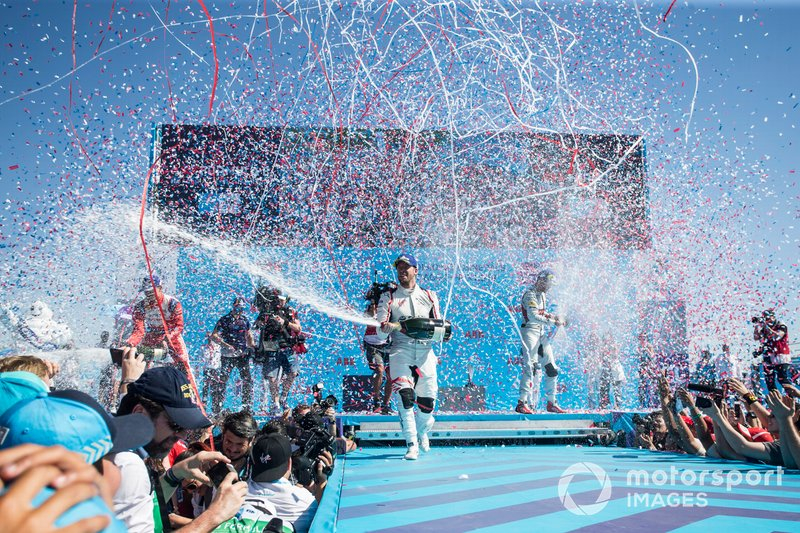 Ganador, Sam Bird, Envision Virgin Racing celebra