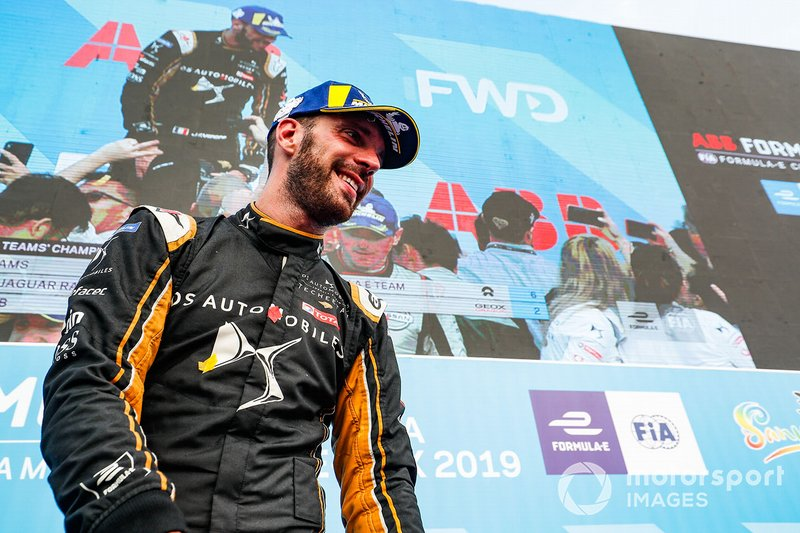 Jean-Eric Vergne, DS TECHEETAH, 1° classificato, festeggia